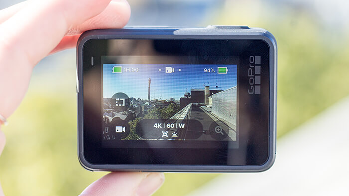 Camera interface and touchscreen display