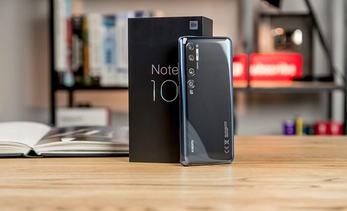Xiaomi Mi Note 10 Front