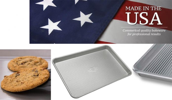 Pan Warp Resistant Nonstick Baking Pan, Made in the USA from Aluminized Steel