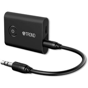2-in-1 Wireless 3.5mm Adapter (AptX Low Latency, Pair with 2 Bluetooth Headphones Simultaneously)