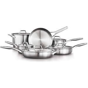 11-Piece Cookware Set, Silver