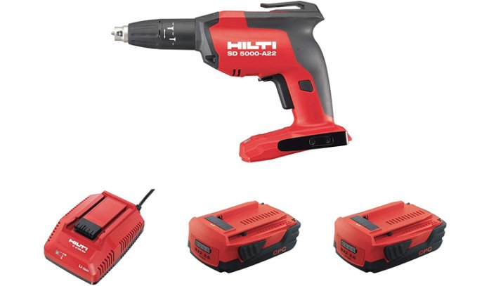 Cordless Drywall Screwdriver Kit w/Batteries & Charger