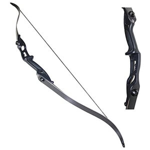 Takedown Hunting Recurve Bow Metal Riser Right Hand Black Longbow