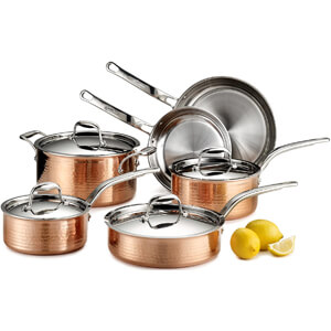 Stainless Steel Cookware Set, 10-Piece, Copper