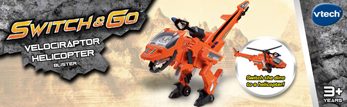 Transform Blister, the ferocious dino into a helicopter and back in just a few simple steps