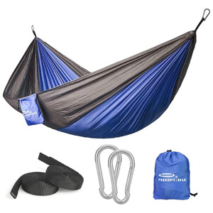 Single Hmmocks Parachute Hammock for Outdoor Hiking Travel Backpacking