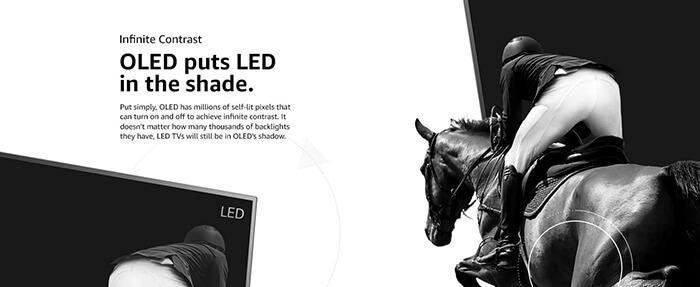LED TVs are capable of extreme realism and thin designs.