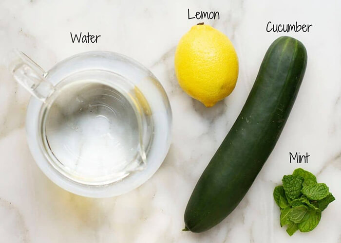 How to Make Cucumber and Lemon Water in Home